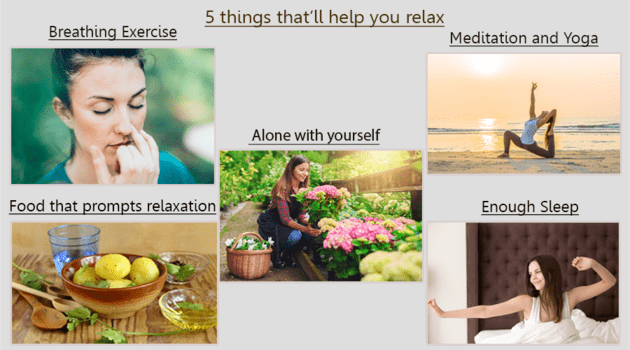 5 things that'll help you relax