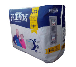 FRIENDS ADULT PULL UPS DIAPERS L 10S